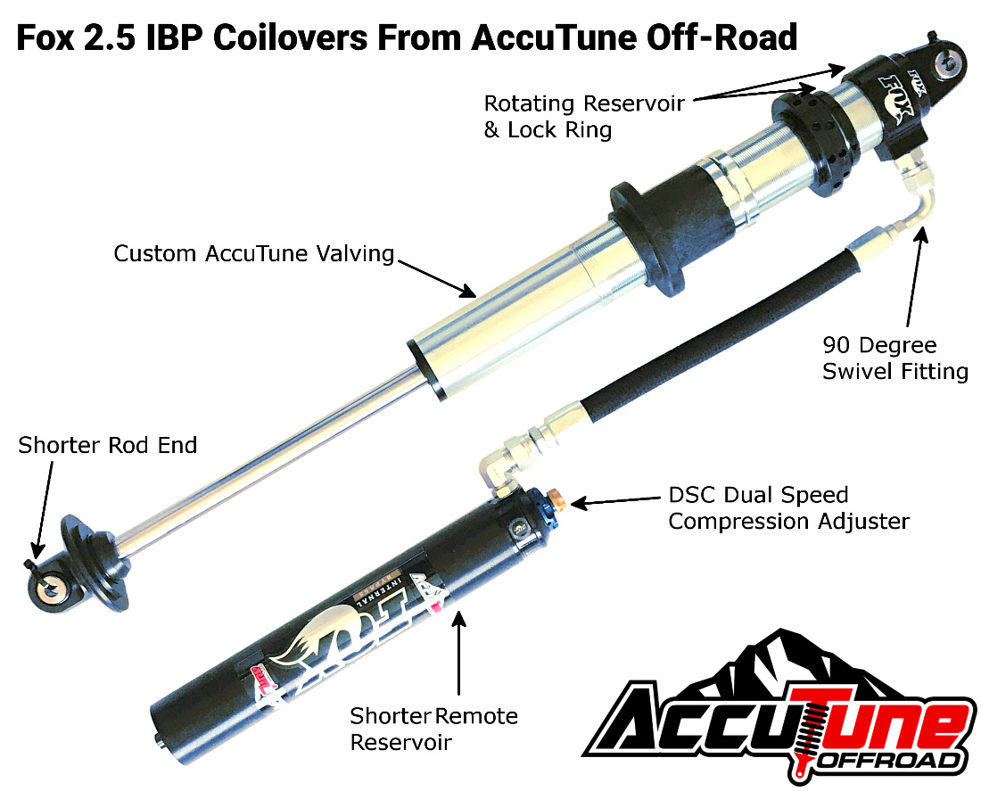 Fox 2 5 IBP Remote Reservoir Coilovers with Short Rod End