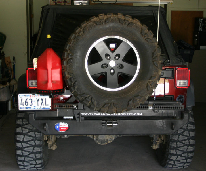 Built a gas can carrier for my Rockhard tire carrier - JKowners.com