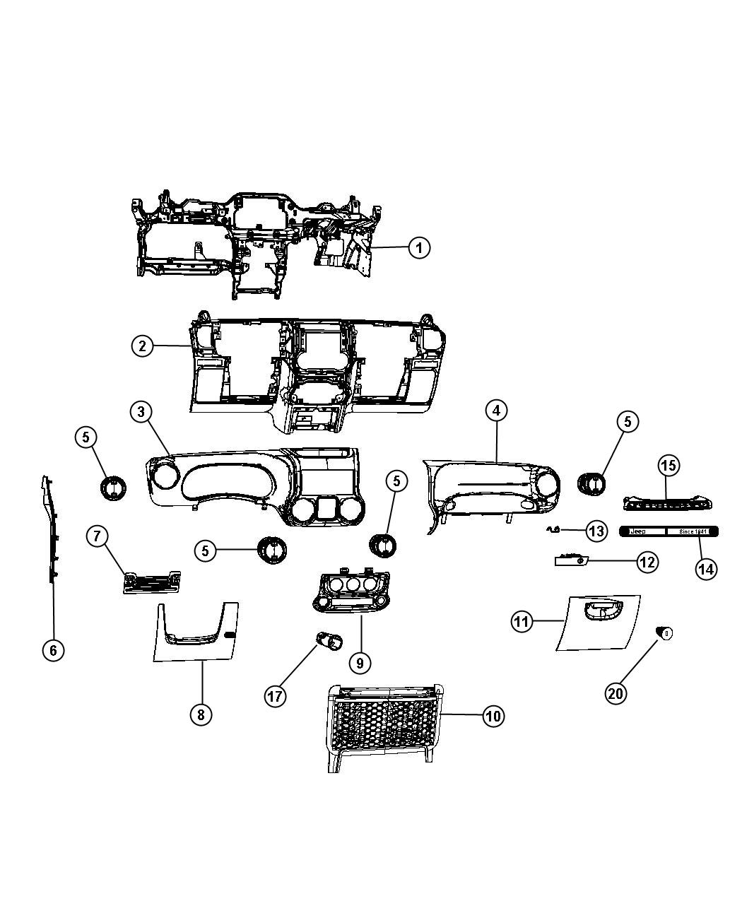 HP PartList also Jeep Wrangler Yj Laser Notched Full Roll Cage Kit together with Mopar Hardware For Jeep Soft Tops as well Tucson Remote Start Wiring Diagram furthermore Parts. on jeep jk dash parts