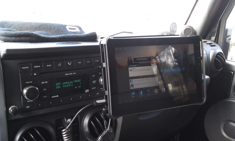 10 Quot Tablet As Gps And Gopro Control Jkowners Com Jeep