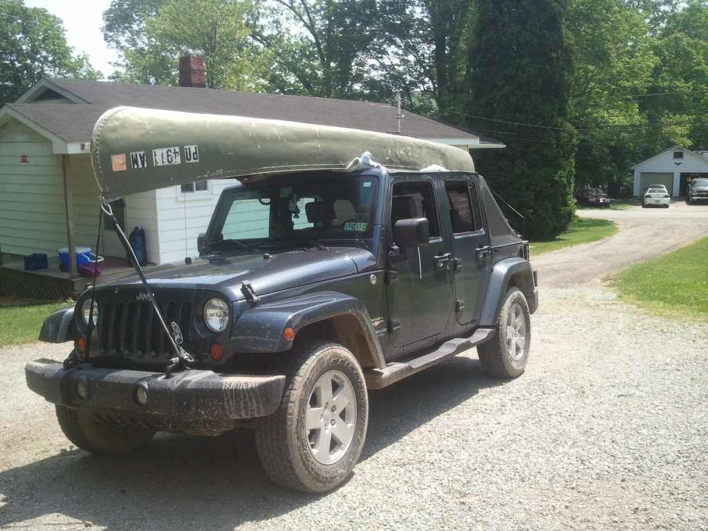 Transport A Kayak On Top Of A Soft Top Jkowners Com