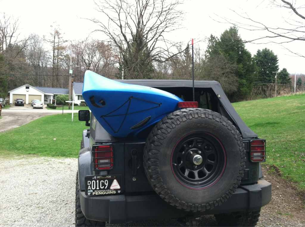 Transport a kayak on top of a soft top - JKowners.com ...