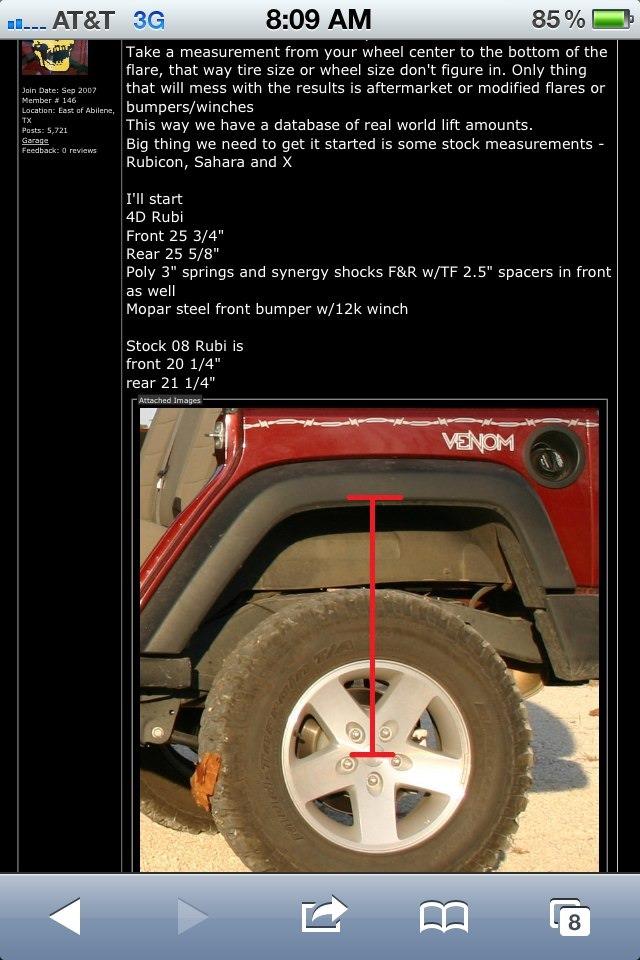 Lift height measurements - JKowners.com : Jeep Wrangler JK ...