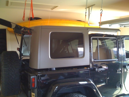Cheap and easy hard top hoist jkowners jeep wrangler jk forum attached images solutioingenieria Image collections
