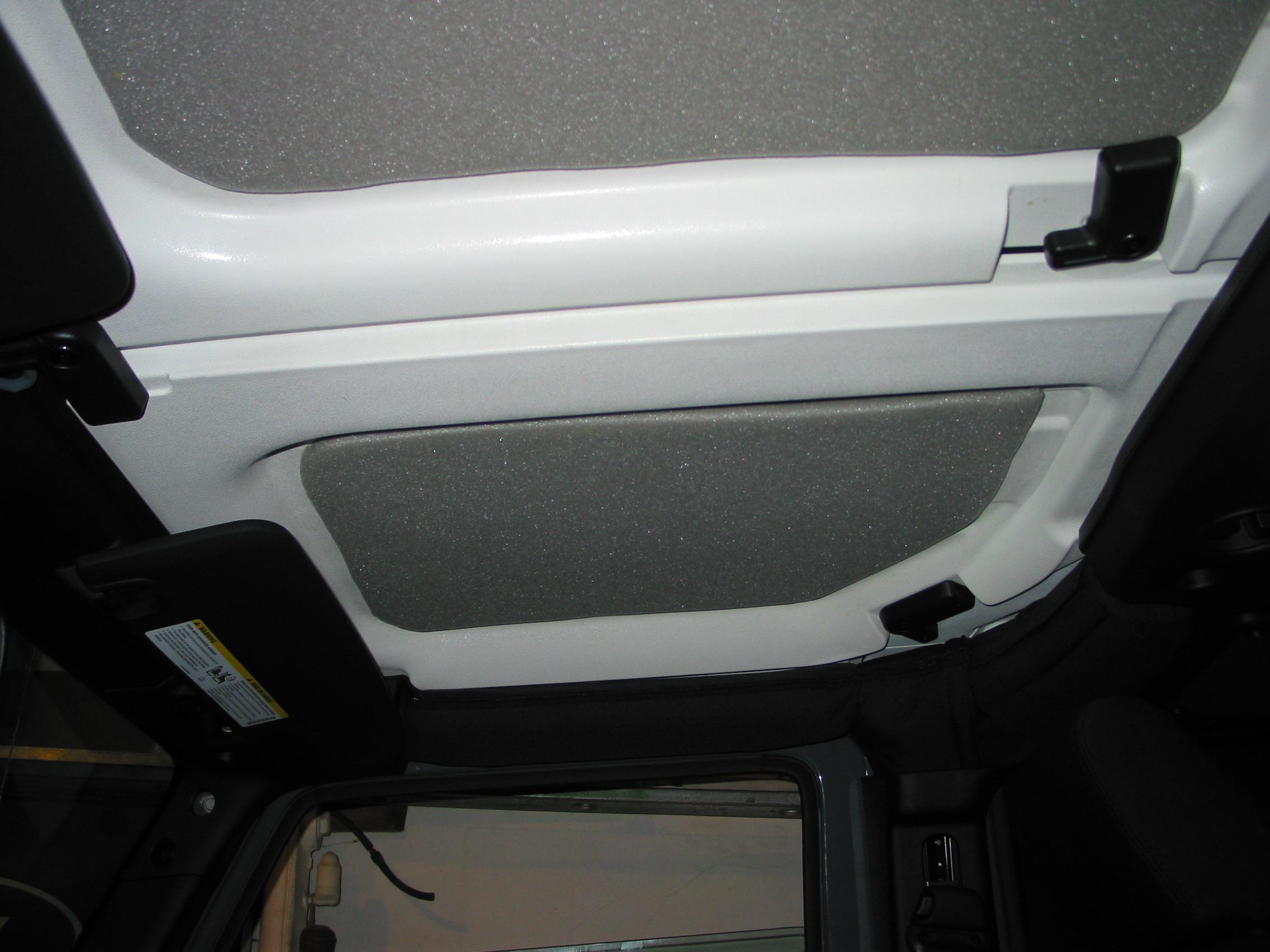 DIY JKU Roof Insulation Panels - JKowners com : Jeep