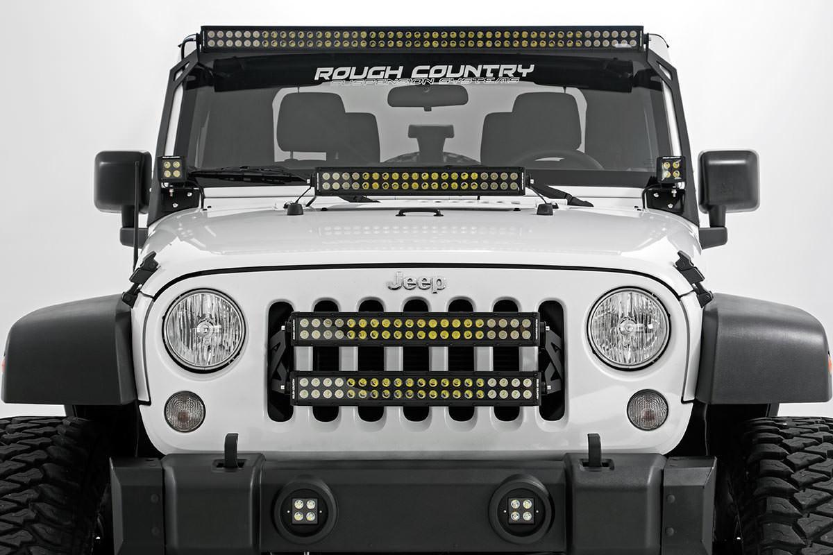 X5 led light bar sale jkowners jeep wrangler jk forum name jeep 15 jk white black series leds aloadofball Choice Image