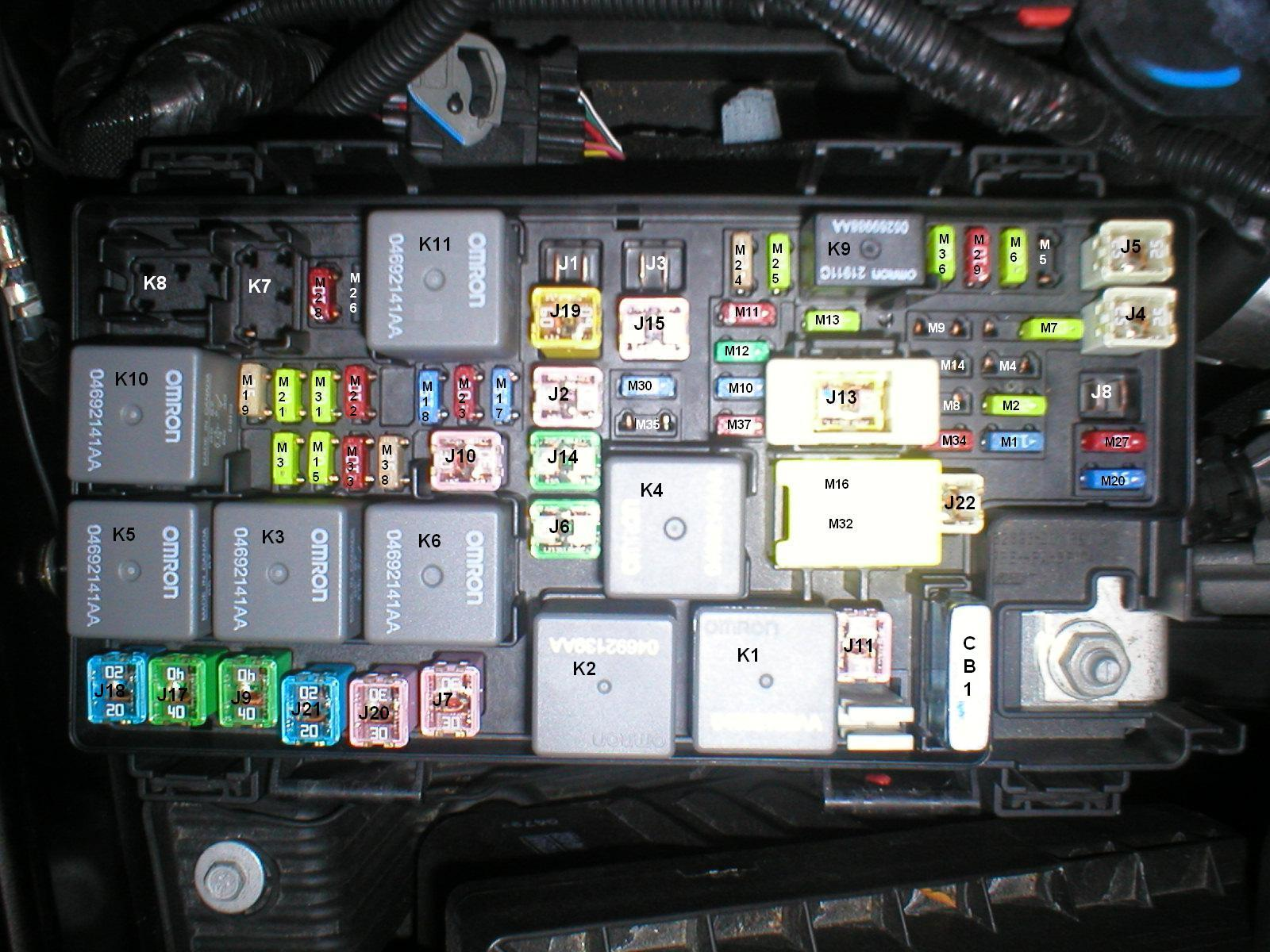 Jeep JK 2009 Fuse Box Map Layout Diagram JKowners Jeep – Jeep Patriot 2008 Fuse Diagram