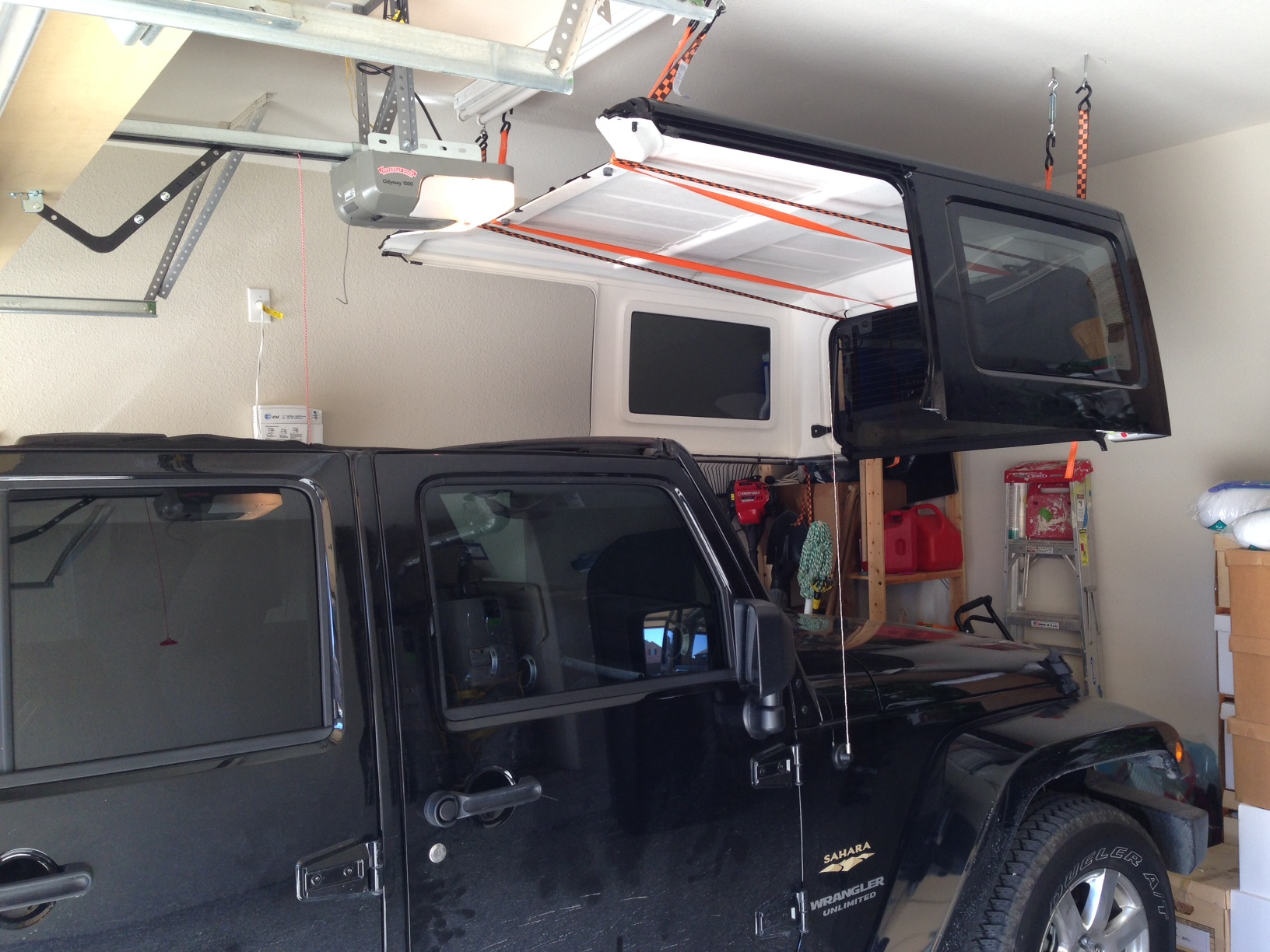 Cheap and easy hard top hoist page 2 jkowners jeep attached images solutioingenieria Image collections