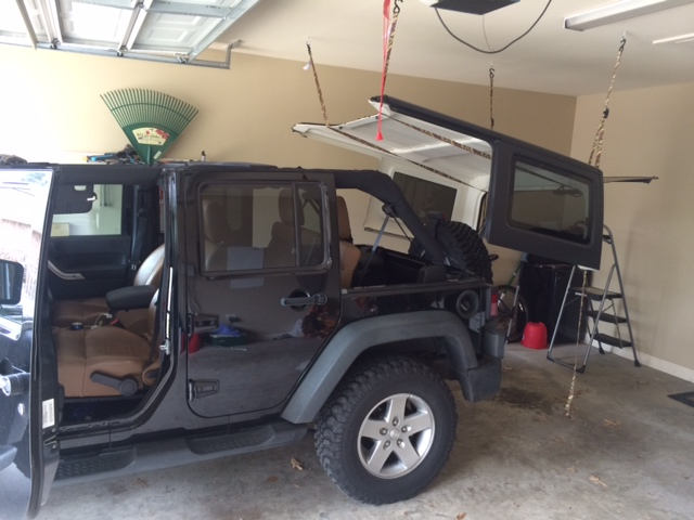 Cheap and easy hard top hoist page 3 jkowners jeep attached images solutioingenieria Image collections