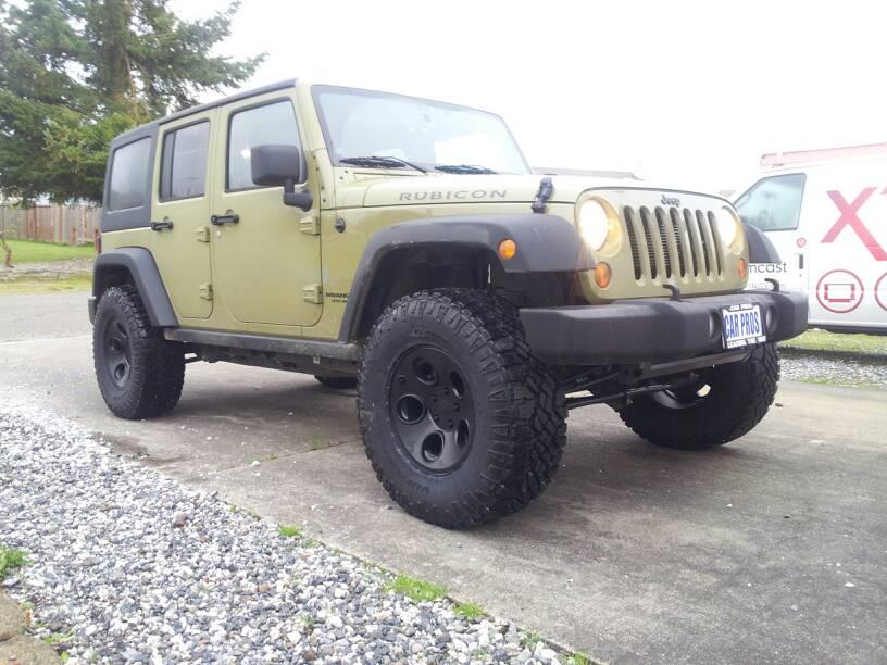 Jeep Wrangler Black Wheels ... wheels with 315 duratrac - JKowners.com : Jeep Wrangler JK Forum