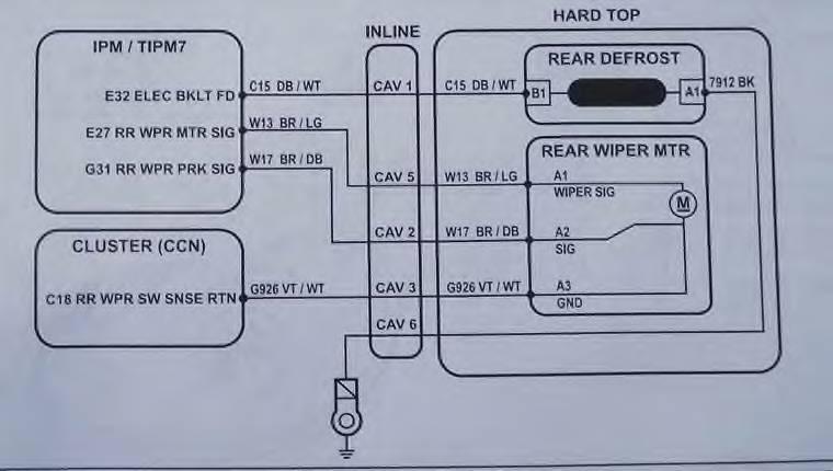 Jeep Wrangler Rear Wiper Wiring Diagram
